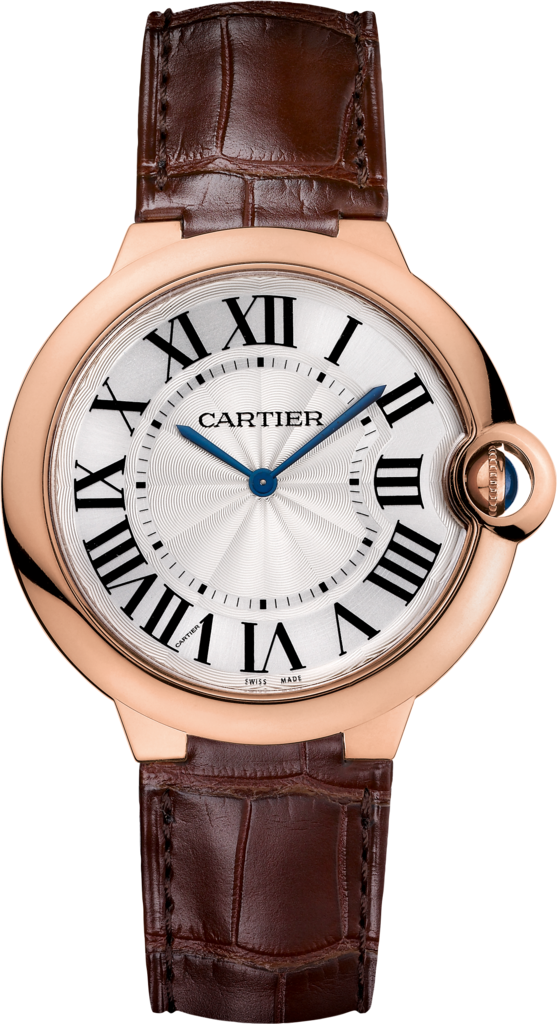 Ballon Bleu de Cartier watch40mm, hand-wound mechanical movement, rose gold