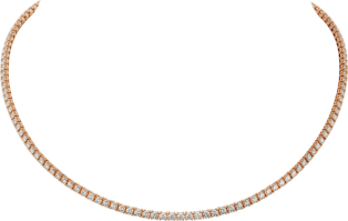 Essential Lines necklace Pink gold, diamonds