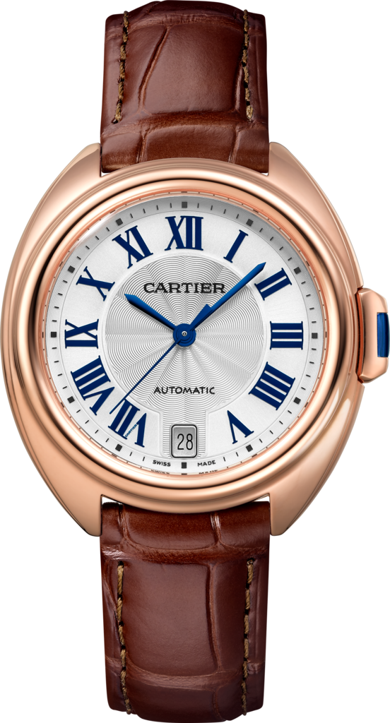 Clé de Cartier watch35 mm, 18K pink gold, leather