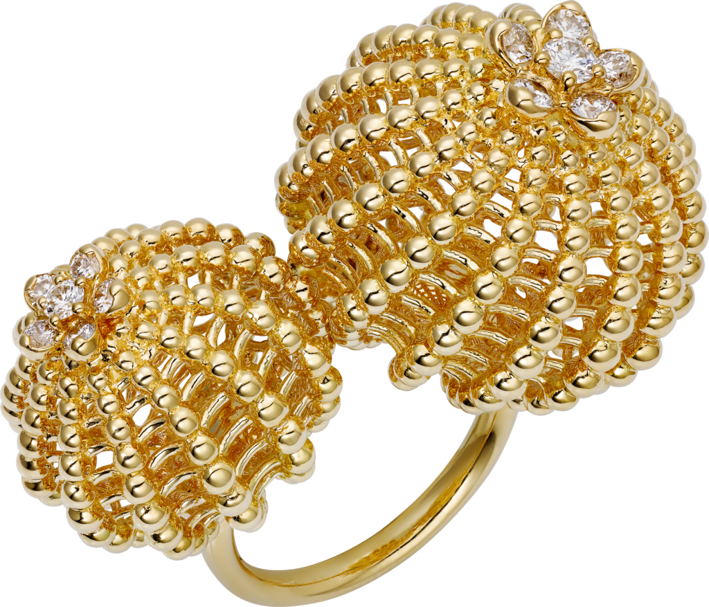 Cactus de Cartier ringYellow gold, diamonds