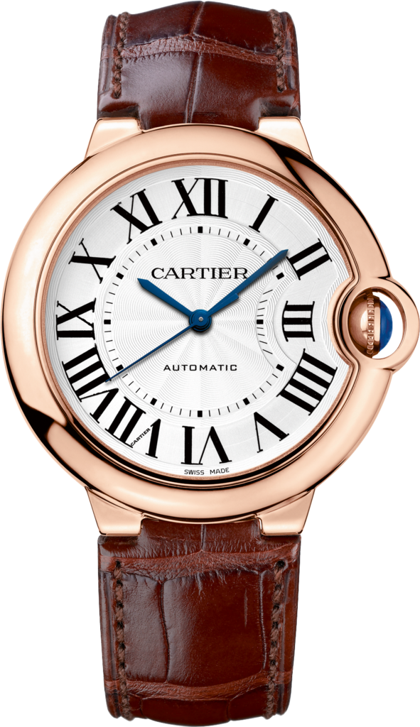 Ballon Bleu de Cartier watch36mm, automatic movement, pink gold, leather