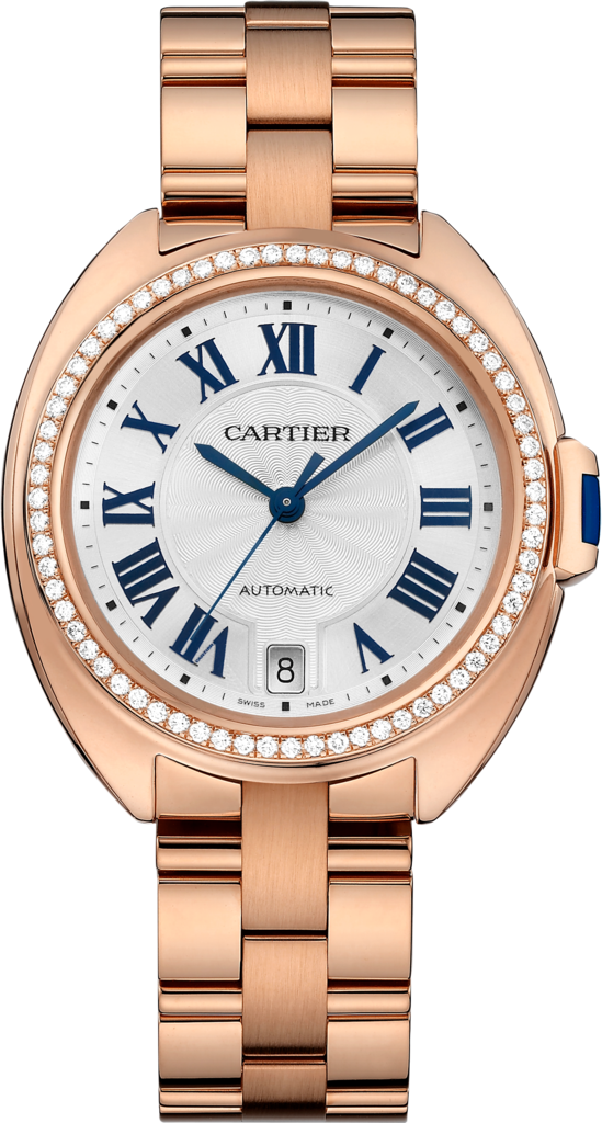 Clé de Cartier watch35 mm, 18K pink gold, diamonds
