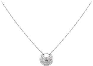Amulette de Cartier necklace, XS model White gold, diamonds