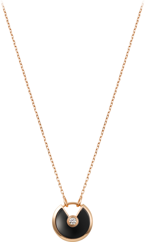 Amulette de Cartier necklace, small modelPink gold, onyx, diamond