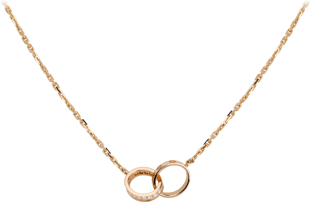Love necklace, diamondsPink gold, diamonds