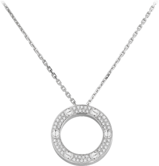 Love necklace, diamond-paved White gold, diamonds