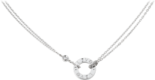 <span class='lovefont'>A </span> necklace, 2 diamonds White gold, diamonds