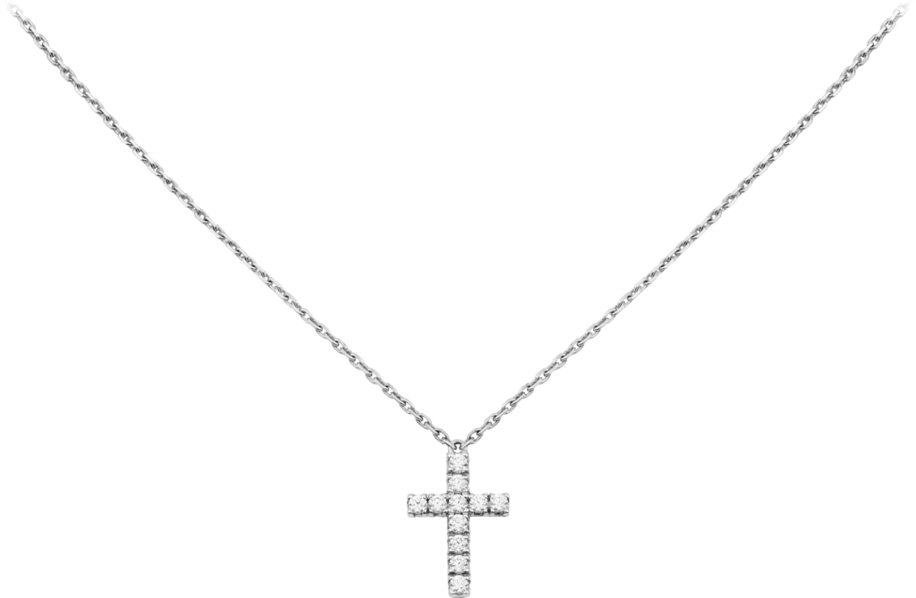 Symbols necklaceWhite gold, diamonds