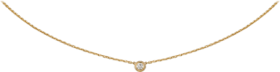 Diamants Légers necklace XS Yellow gold, diamond