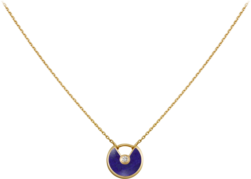 Amulette de Cartier necklace, XS modelYellow gold, lapis lazuli, diamond