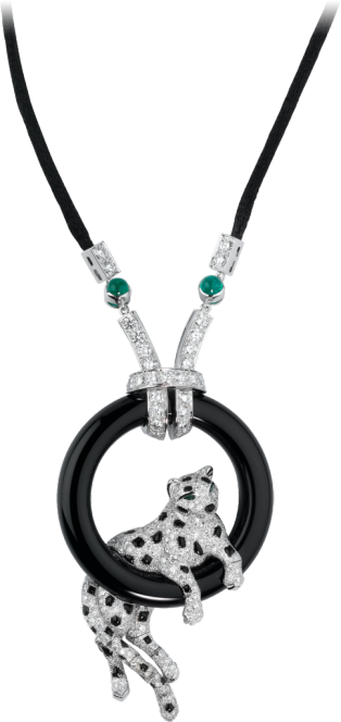 Panthère de Cartier necklace Platinum, emeralds, onyx, diamonds