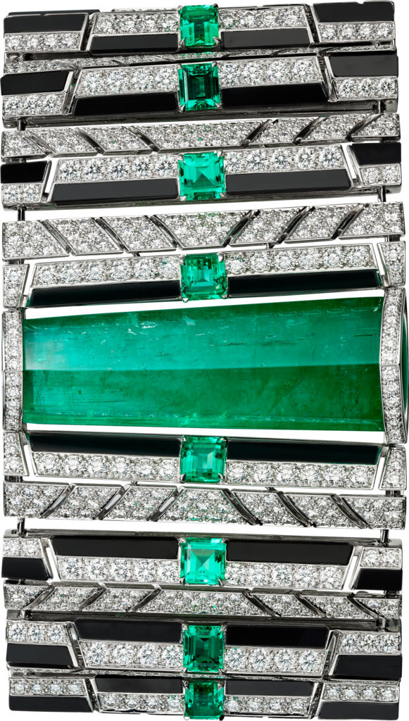 High Jewelry braceletWhite gold, emeralds, onyx, diamonds
