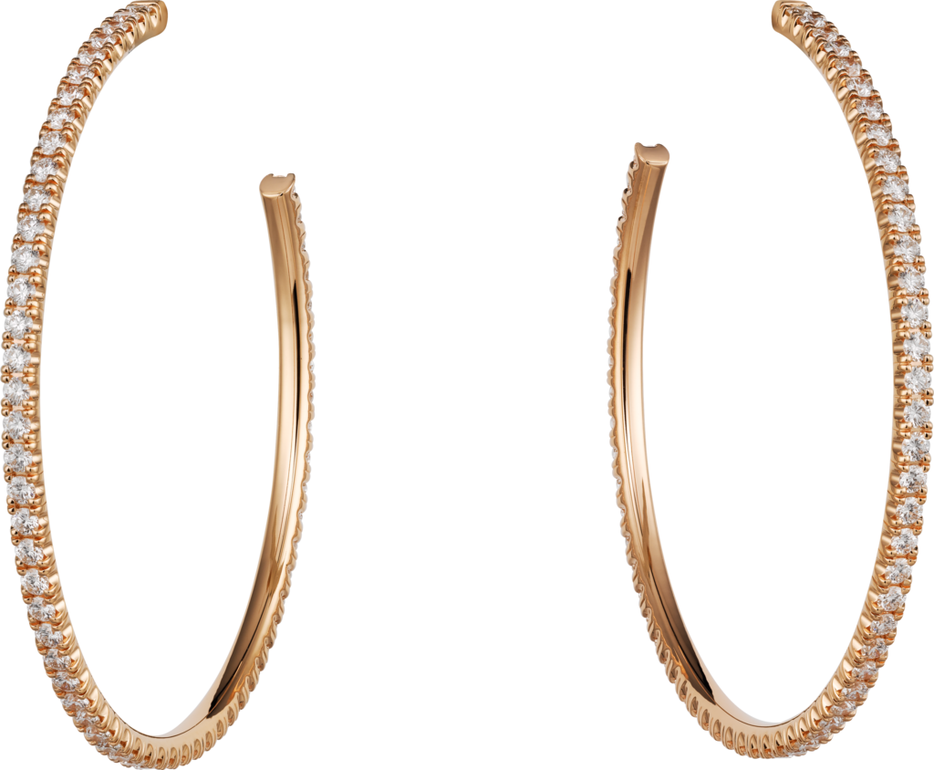 Etincelle de Cartier earringsPink gold, diamonds