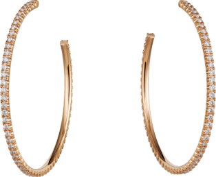 Etincelle de Cartier earrings Pink gold, diamonds