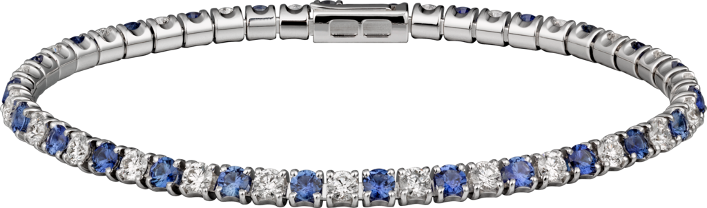 Essential Lines braceletWhite gold, diamonds, sapphires