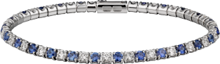 Essential Lines bracelet White gold, diamonds, sapphires