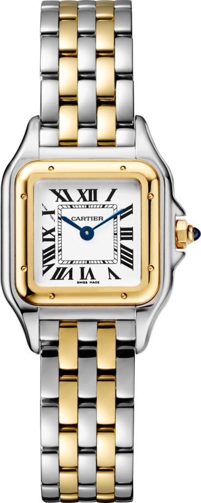 Panthère de Cartier watchSmall model, quartz movement, yellow gold, steel