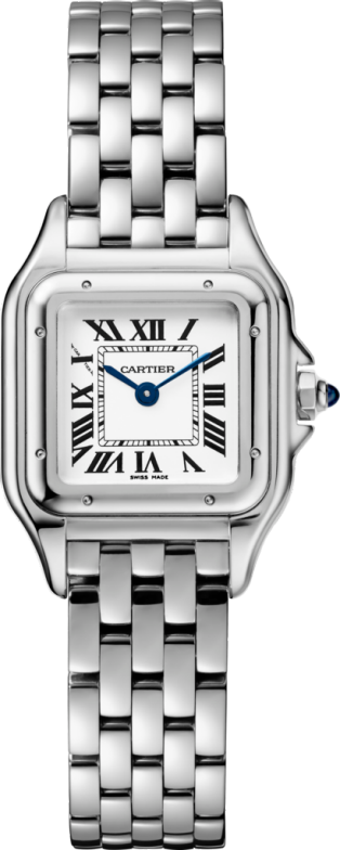 Panthère de Cartier watch, small model Small model, quartz movement, steel