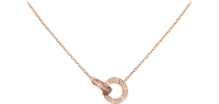 Love necklace Pink gold, diamonds
