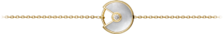 Amulette de Cartier bracelet, XS model Yellow gold, diamond, white mother-of-pearl