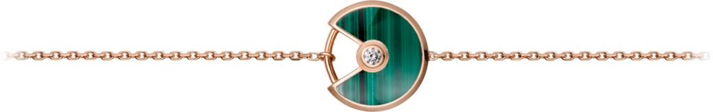 Amulette de Cartier bracelet, XS modelPink gold, malachite, diamond