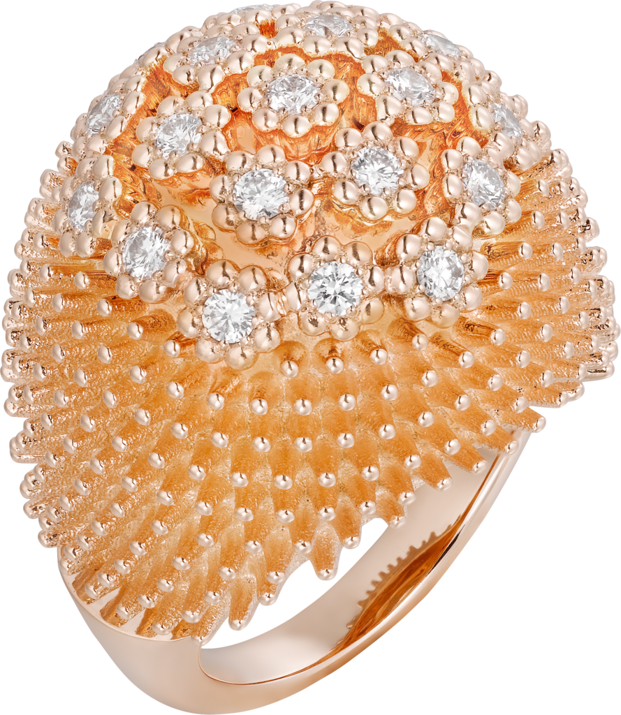 Cactus de Cartier ringPink gold, diamonds