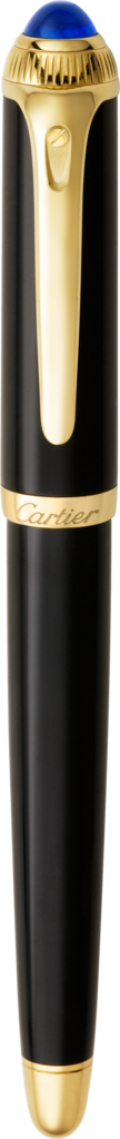 R de Cartier fountain penBlack composite, yellow golden finish details