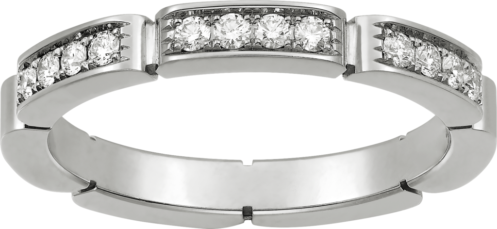 Maillon Panthère wedding bandWhite gold, diamonds