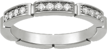 Maillon Panthère wedding band White gold, diamonds
