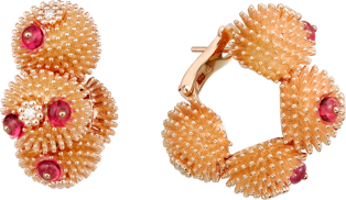 Cactus de Cartier earrings Pink gold, spinels, diamonds