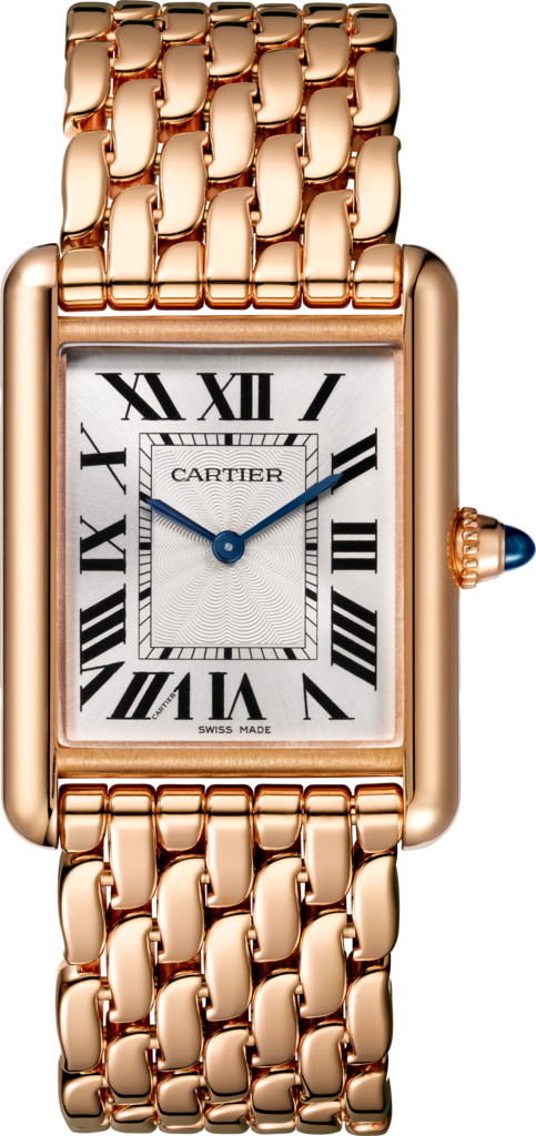 Tank Louis Cartier watchLarge model, hand-wound mechanical movement, pink gold