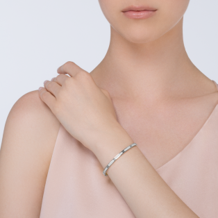 Love bracelet, small model, pavé White gold, diamonds