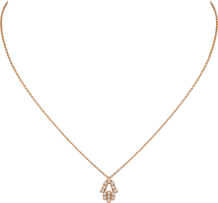 Symbol necklace Pink gold, diamonds