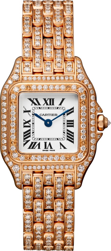 Panthère de Cartier watchSmall model, quartz movement, pink gold, diamonds