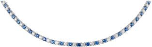 Essential Lines necklace White gold, diamonds, sapphires