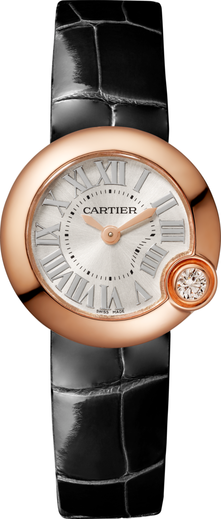 Ballon Blanc de Cartier watch26 mm, pink gold, diamond, leather