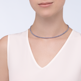 Essential Lines necklace White gold, sapphires
