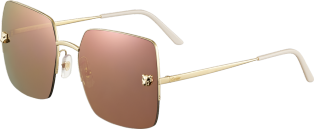 Panthère de Cartier sunglasses Champagne golden-finish metal, lenses with a golden pink-toned effect
