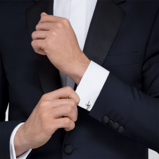 Juste un Clou cufflinks Solid white gold