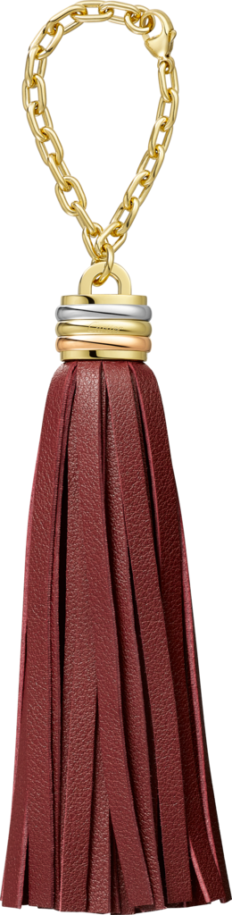 Trinity tassel key ring in burgundy