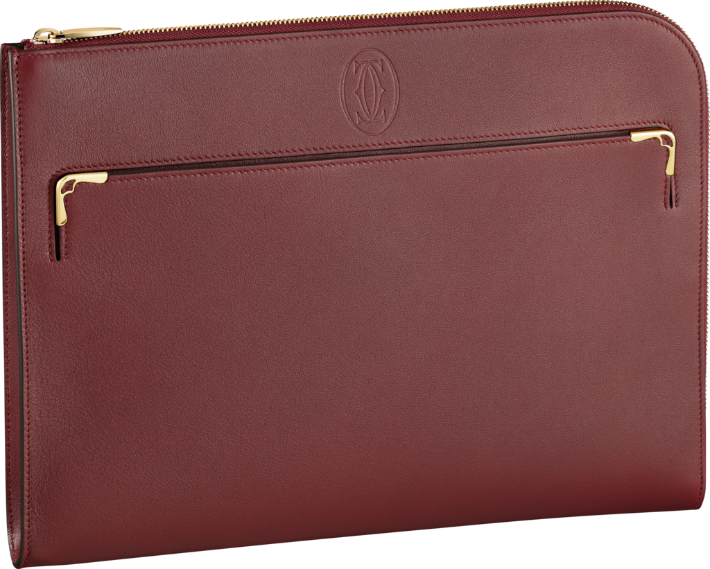Portfolio,  Must de CartierBurgundy calfskin, golden finish