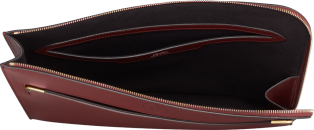 Portfolio,  Must de Cartier Burgundy calfskin, golden finish