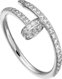 Juste un Clou ring White gold, diamonds