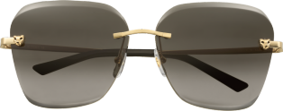 Panthère de Cartier sunglasses Champagne golden-finish metal, graduated brown lenses