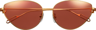 Première de Cartier sunglasses Smooth champagne golden-finish metal, cyclamen lenses with golden flash
