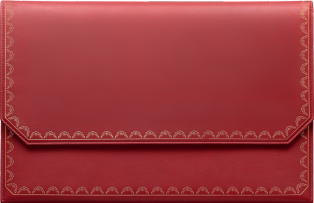 Guirlande de Cartier Small Leather Goods, medium model clutch bag Red calfskin