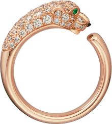 Panthère de Cartier ring Pink gold, onyx, emeralds, diamonds