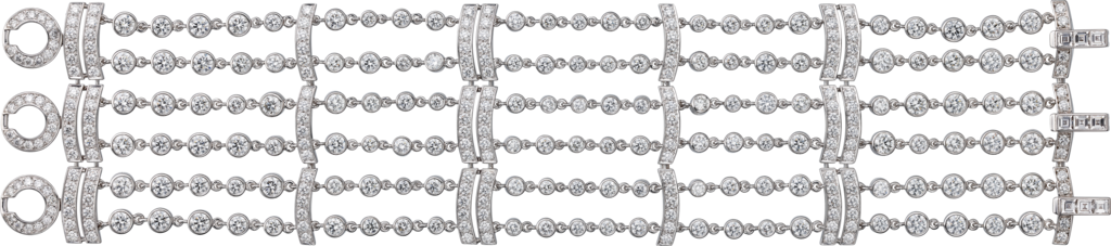 Pluie de Cartier braceletWhite gold, diamonds