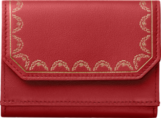 Guirlande de Cartier Small Leather Goods, trifold wallet Red calfskin