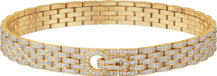 Agrafe necklace Yellow gold, diamonds